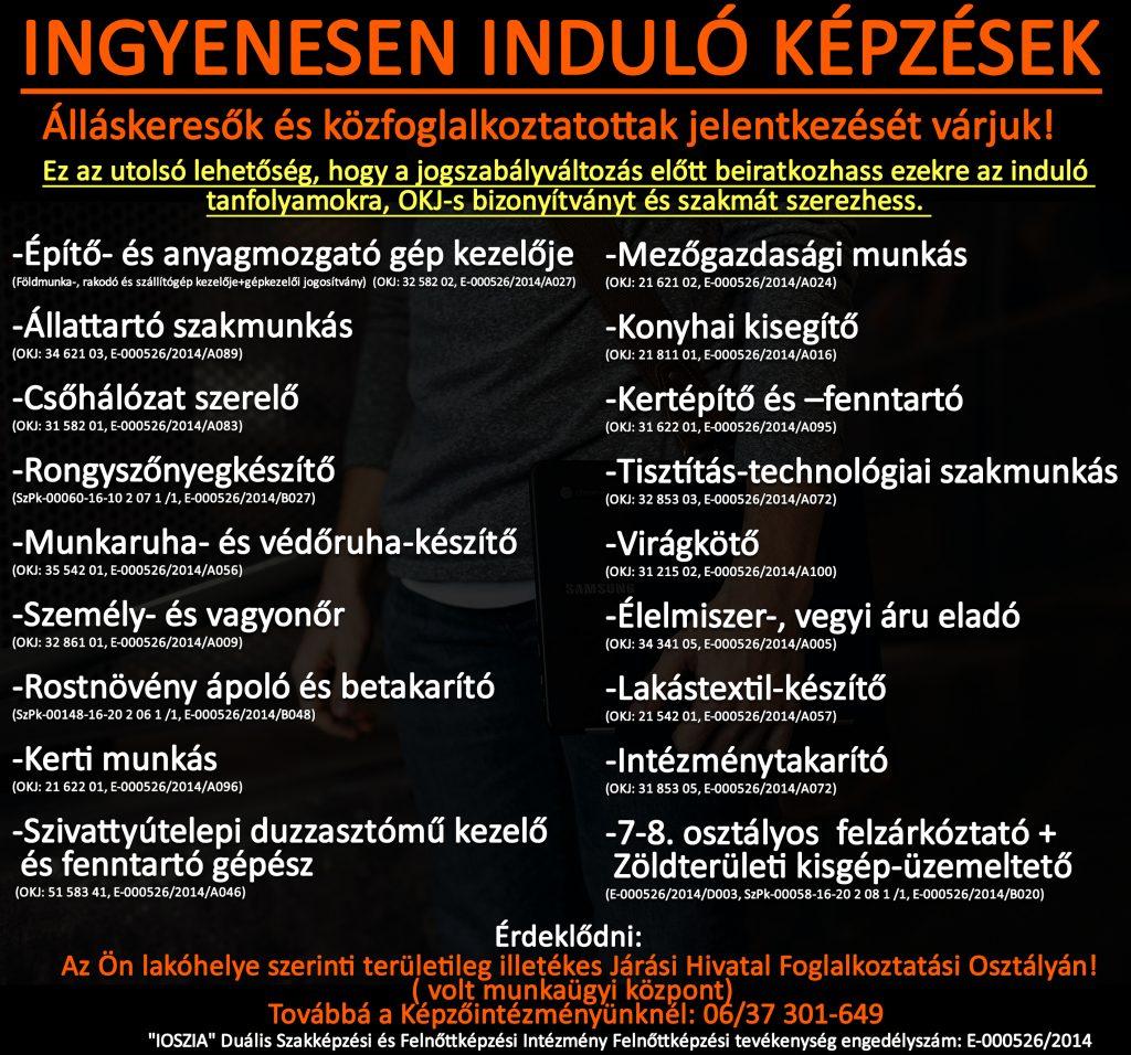 Borsod-Abaúj-Zemplén megye - Ingyenes képzések - Felnőttképzés - felnottkepzes.hu - IOSZIA